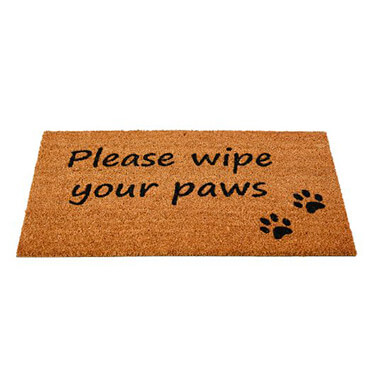 Please wipes your paws